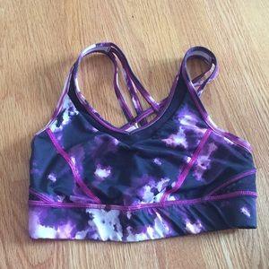 lululemon purple pattern sports bra